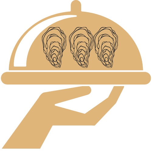 Oyster Catering Icon with oysters